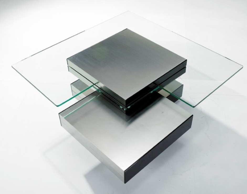Image of: Wood Contemporary Glass Coffee Tables
