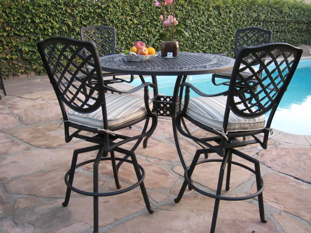 Picture of: Aluminum Outdoor Patio Bar Table