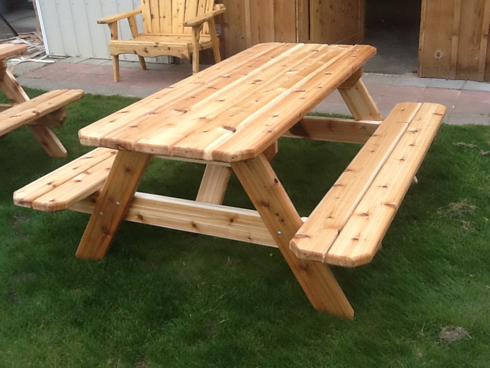 Picture of: Awesome Cedar Picnic Table