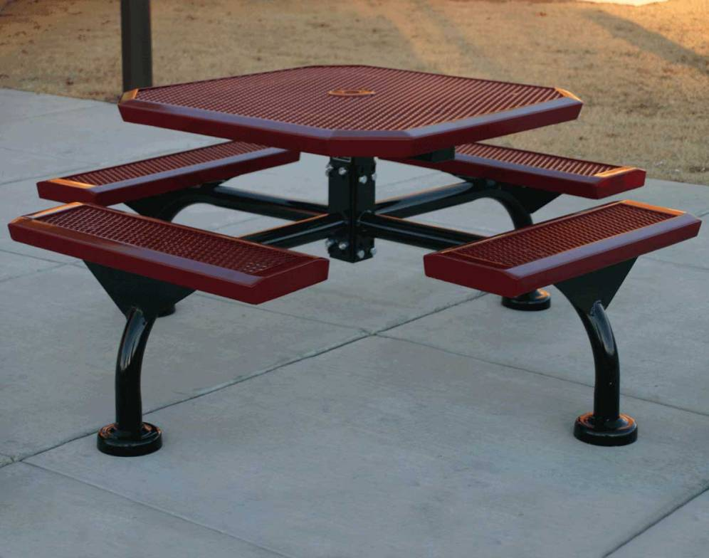 Picture of: Awesome Metal Picnic Tables