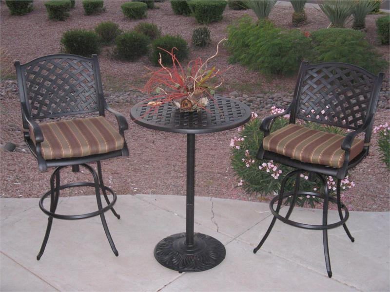 Picture of: Bar Height Patio Table Set Black