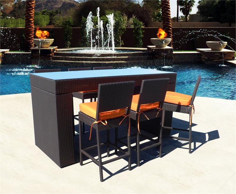 Picture of: Bar Height Patio Table Set Decor