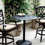 Bar Height Patio Table Set Furniture