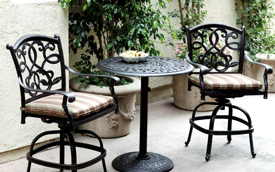 Image of: Bar Height Patio Table Set Furniture
