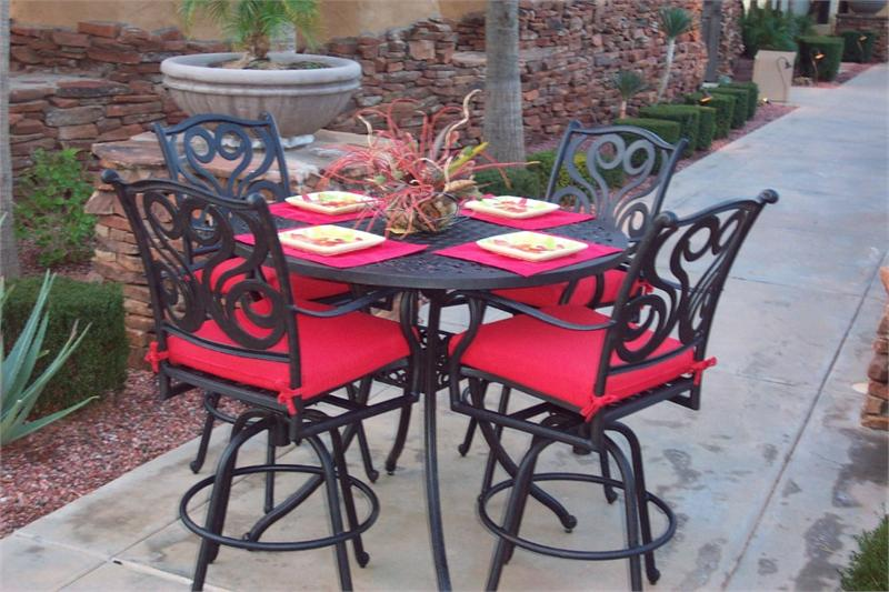 Picture of: Bar Height Patio Table and Chairs Decor