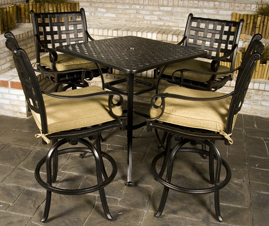 Picture of: Bar Height Patio Table and Chairs Designs