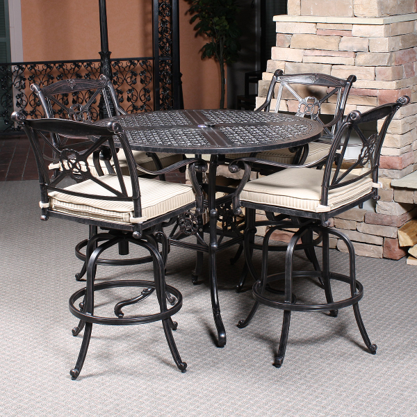 Picture of: Bar Height Patio Table and Chairs Ideas