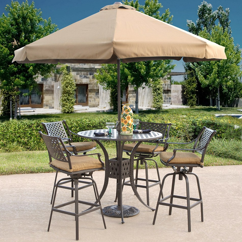 Picture of: Bar Height Patio Table and Chairs Style