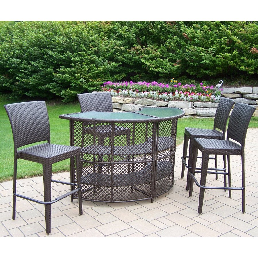 Image of: Bar Patio Table Images
