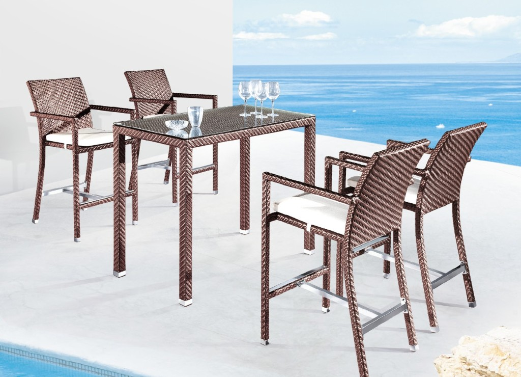 Image of: Bar Patio Table Sets