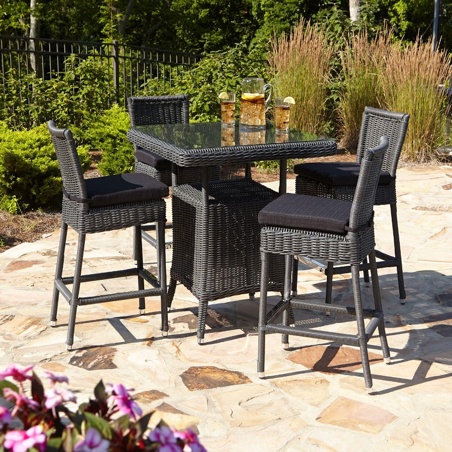 Image of: Bar Patio Table with Stools