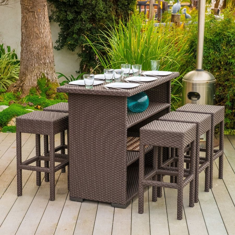 Image of: Bar Patio Table