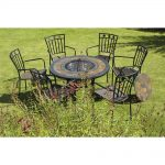 Beautyful Firepit Dining Table