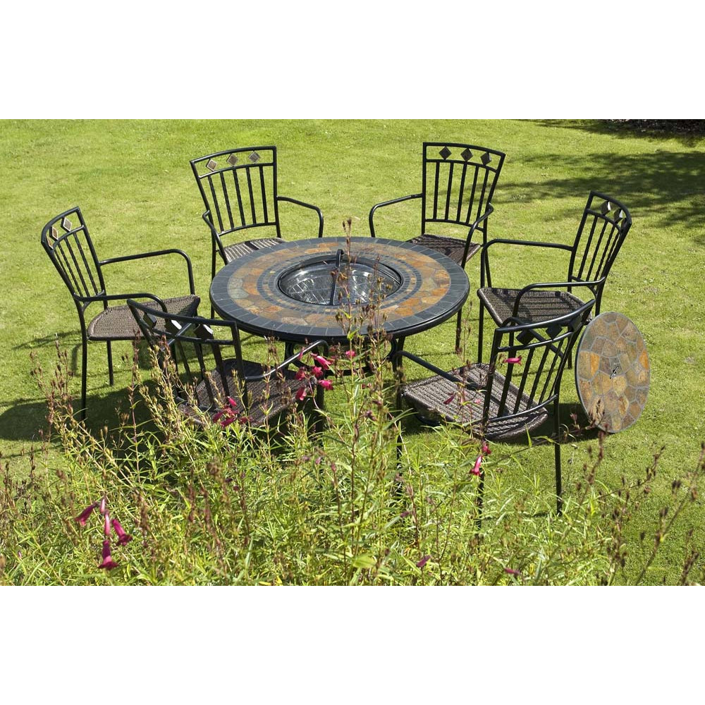Picture of: Beautyful Firepit Dining Table