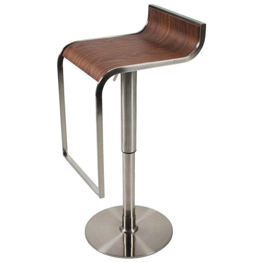 Picture of: Forest Adjustable Bar Counter Stool Walnut Satin Nickel Bar Stools For Bar And Counter Stools Plan