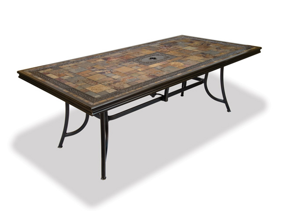 Image of: Big Rectangular Patio Dining Table