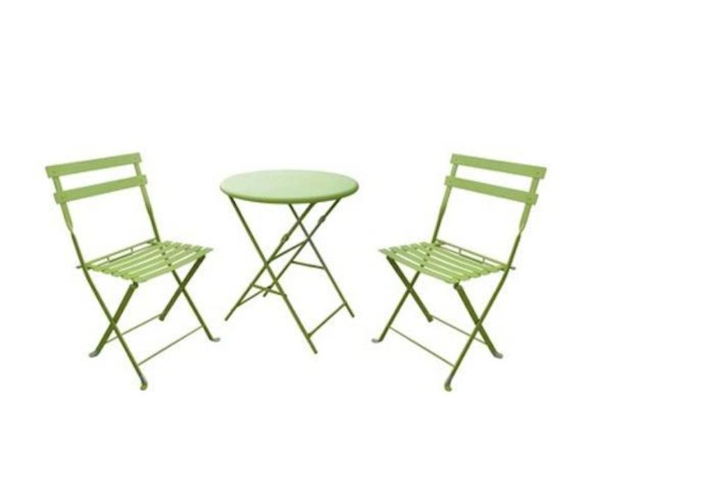 Picture of: Bistro Patio Table and Chair Bar Height