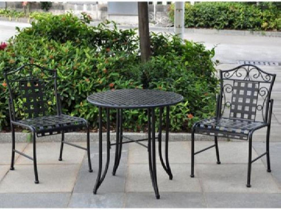 Picture of: Bistro Patio Table and Chair Umbrella