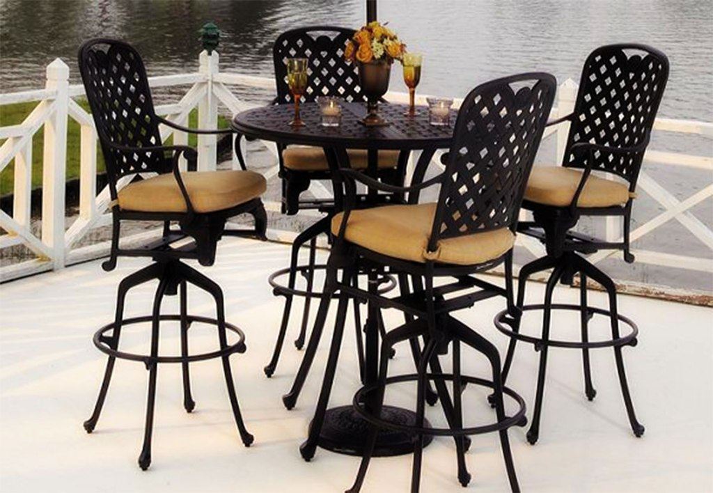 Picture of: Bistro Patio Table and Chair for Hotel