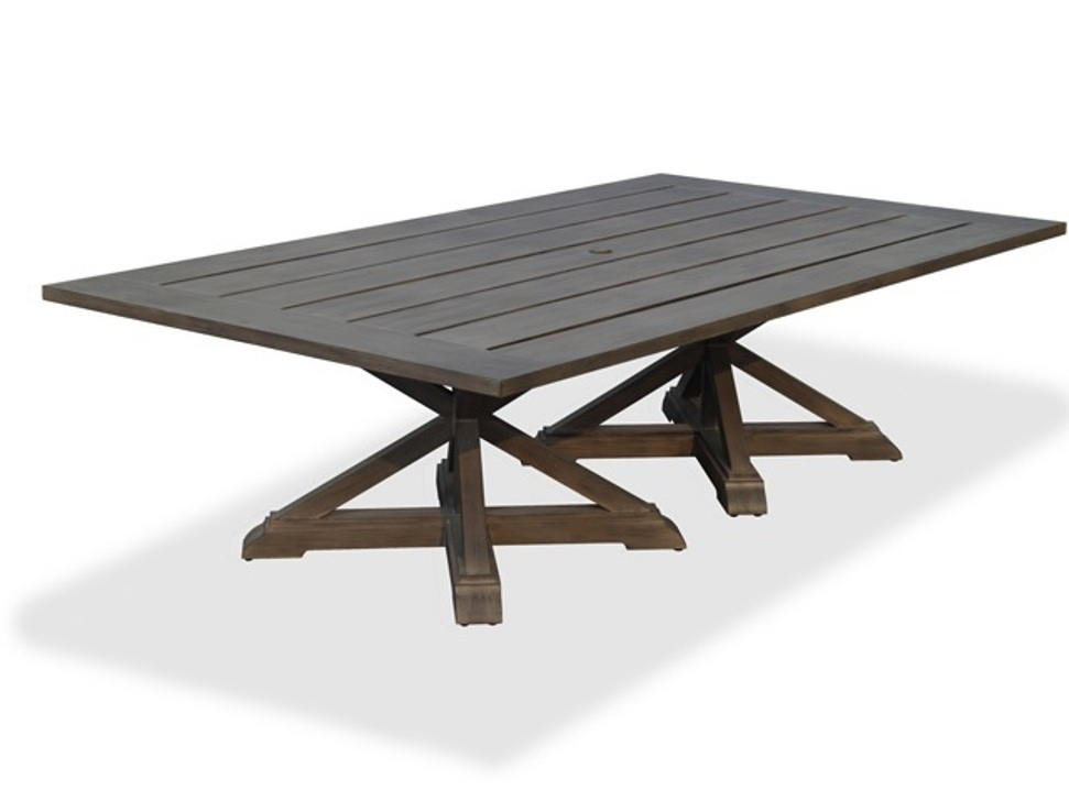 Image of: Black Rectangular Patio Dining Table