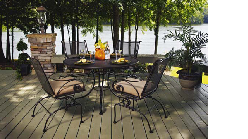 Picture of: Black Wrought Iron Patio Dining Table