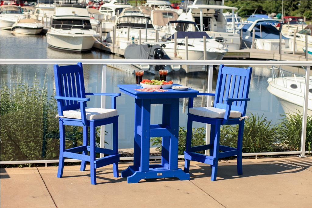 Picture of: Blue Bar Patio Table