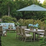 Brushed Wicker Patio Umbrella Side Table