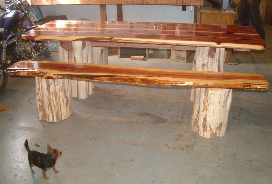 Picture of: Cedar Picnic Table Decorative
