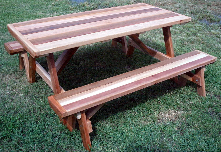 Picture of: Cedar Picnic Table Design