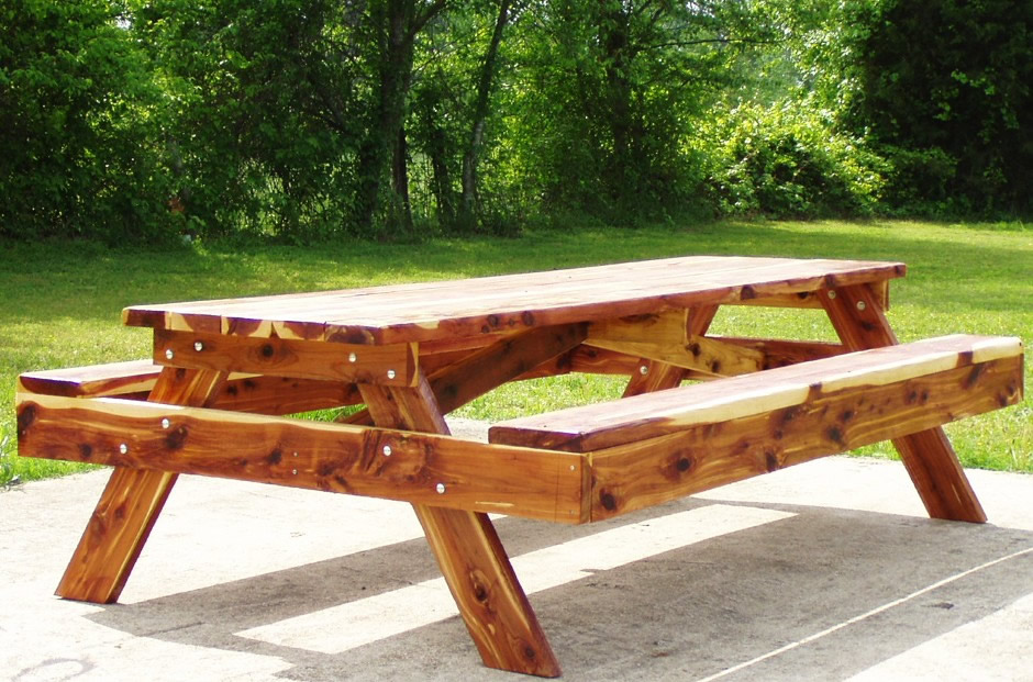 Picture of: Cedar Picnic Tables Ideas