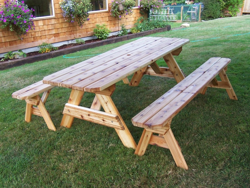 Picture of: Cedar Picnic Table Inspired