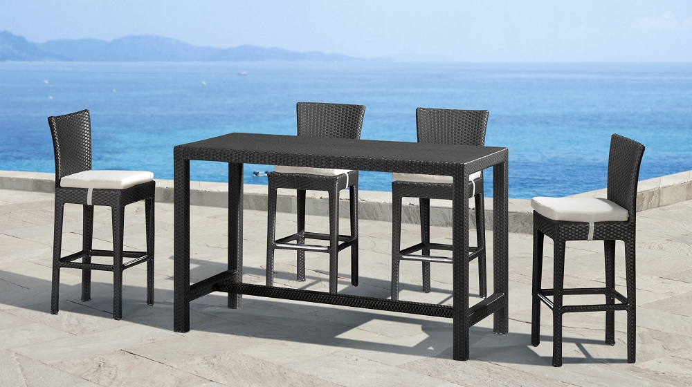 Image of: Cheap Patio Bar Height Table and Chairs