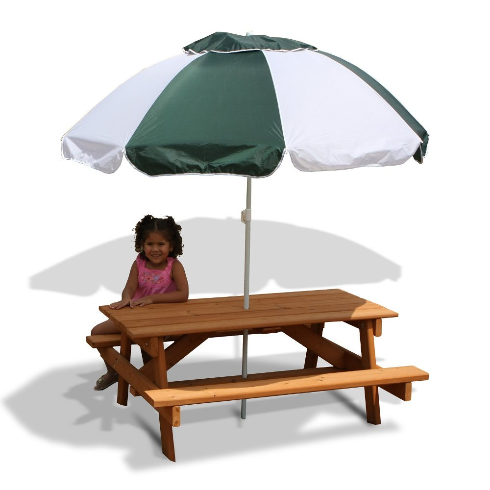 Picture of: Classic Picnic Table with Umbrella