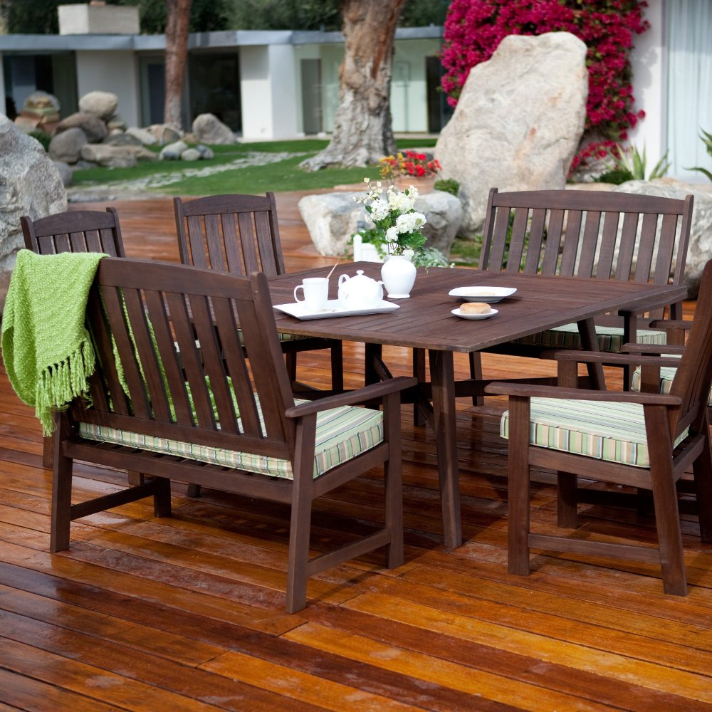 Image of: Classic Wood Patio Dining Table Ideas