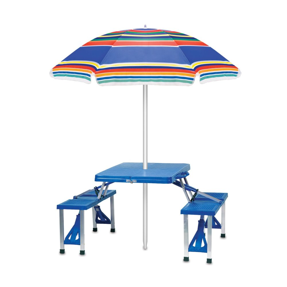 Picture of: Contemporary Picnic Table with Umbrella