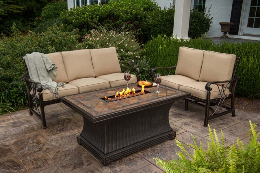 Picture of: Cozy Propane Firepit Table
