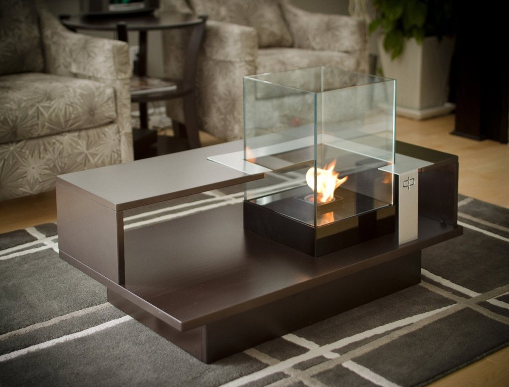 Picture of: Excellent Firepit Coffee Table