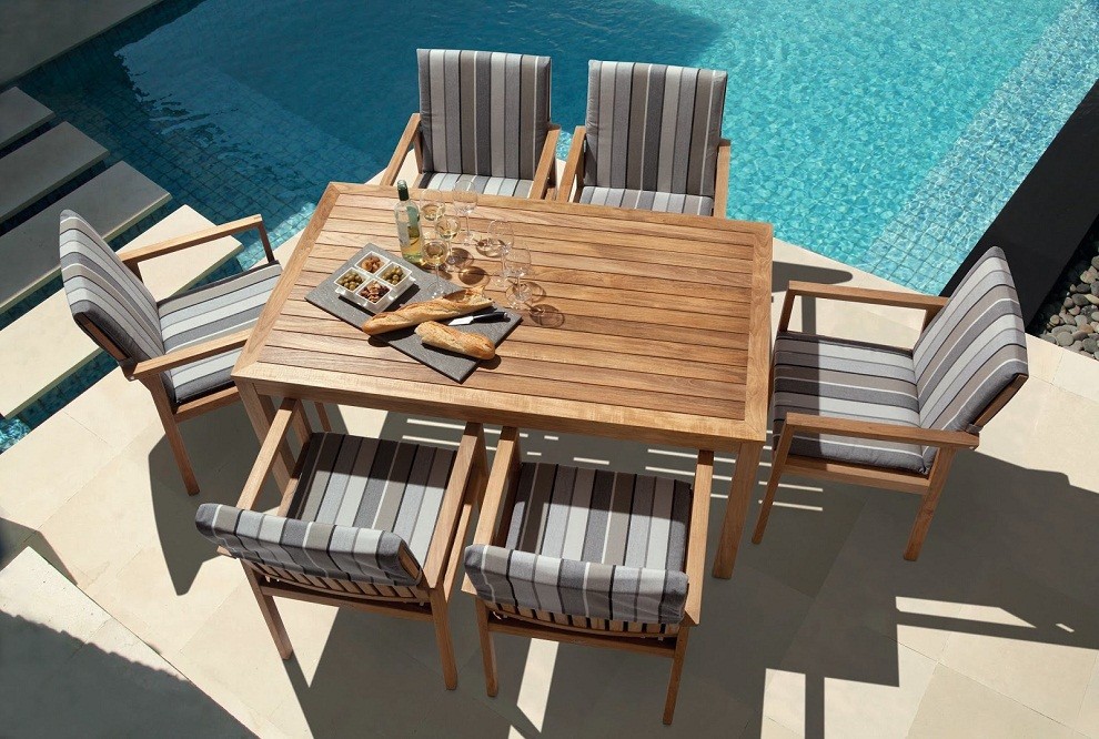 Image of: Extraordinary Square Patio Dining Table