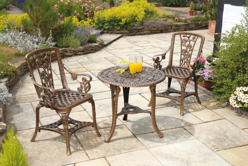 Picture of: Folding Bistro Patio Table and Chair