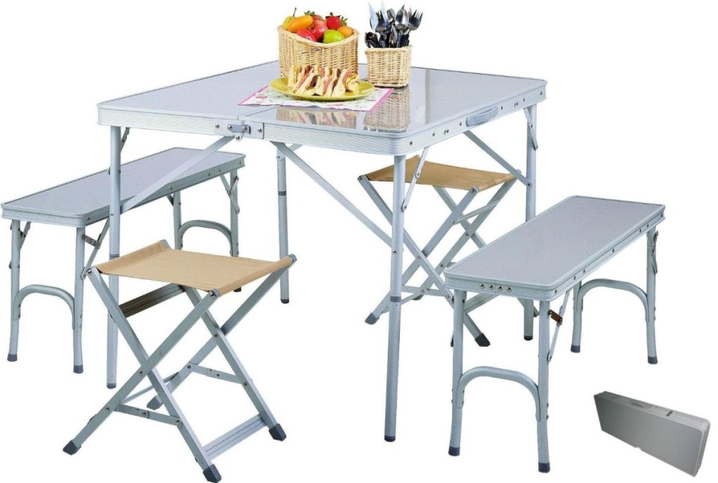 Picture of: Folding Picnic Table Bench Set
