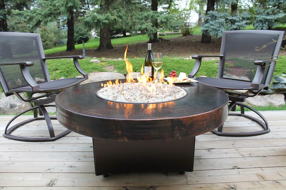 Image of: Garden Firepit Table Set