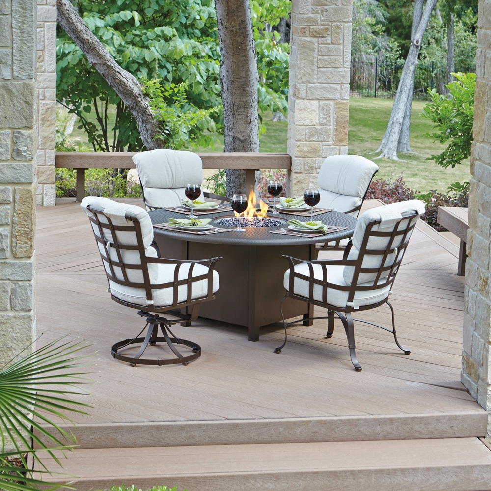 Picture of: Good Firepit Dining Table