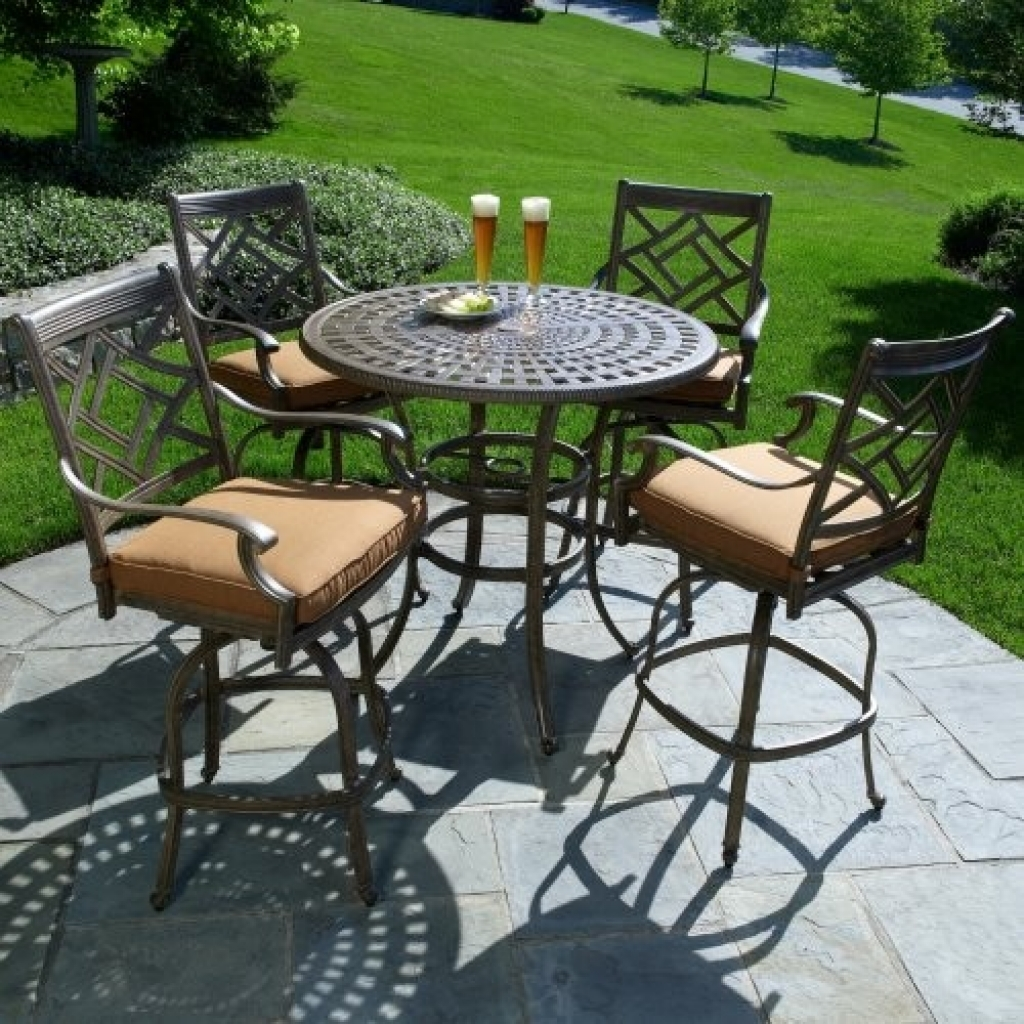 Image of: Home Bar Height Patio Table Set