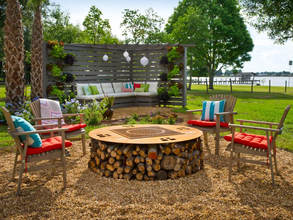 Picture of: Ideas Diy Fire Pit Table Round