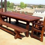 Large Wood Patio Dining Table