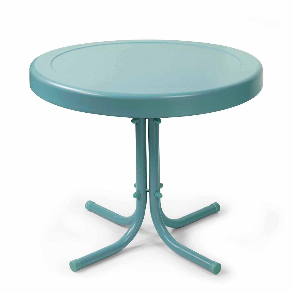 Picture of: Metal Patio Side Table Round