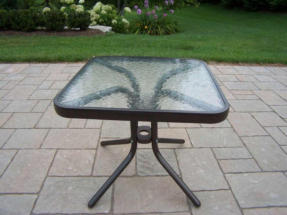 Picture of: Metal Patio Side Table Style