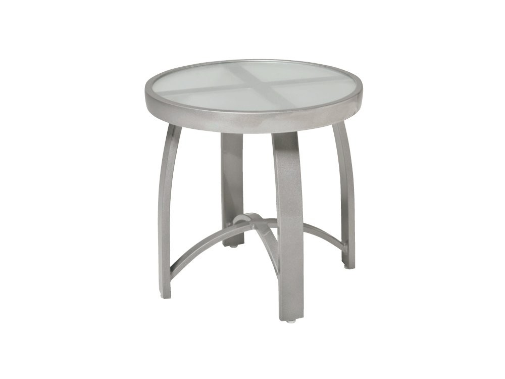 Picture of: Metal Patio Side Table White