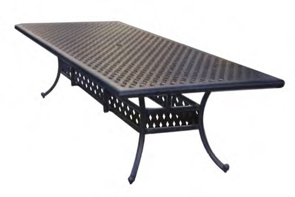 Image of: Metal Rectangular Patio Dining Table