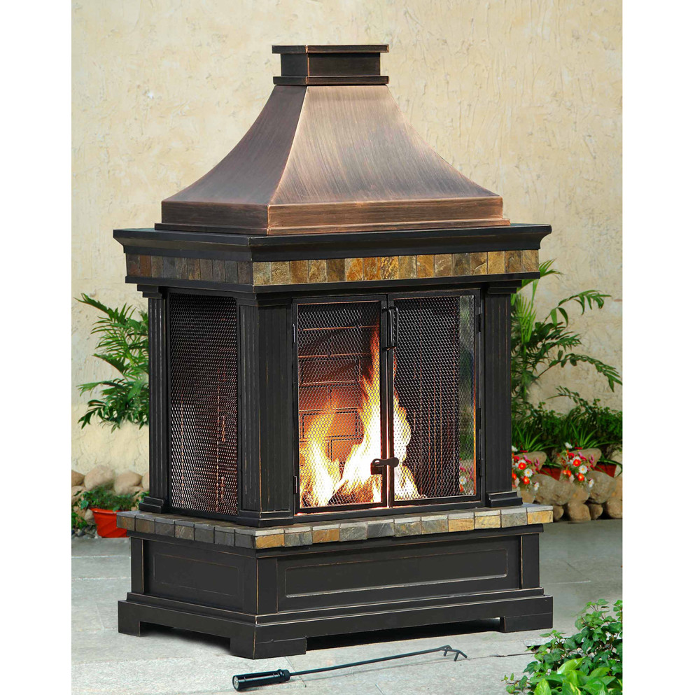 Picture of: Model of Portable Outdoor Fireplace